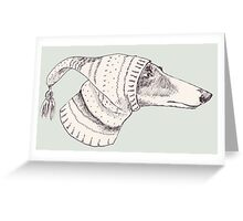 Winter Whippet  Greeting Card