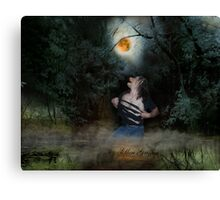 Werewolf in Swamp Canvas Print
