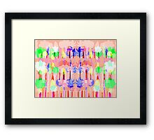 Peach Forest Framed Print