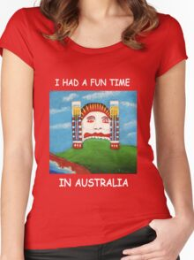 I Had A Fun Time In Australia (White writing for Dark T's) Women's Fitted Scoop T-Shirt