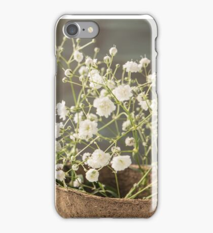 A bouquet of gypsophila flowers iPhone Case/Skin
