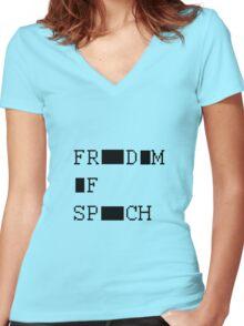 FREEDOM OF SPEECH VAR Women's Fitted V-Neck T-Shirt