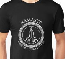 Namaste Yoga Design - I Bow To The Divine In You Unisex T-Shirt