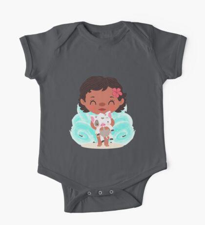 Baby Moana and Pua One Piece - Short Sleeve