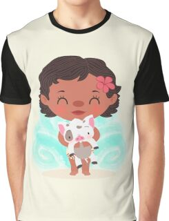 Baby Moana and Pua Graphic T-Shirt