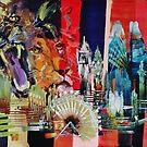 London City Skyline Barbary Lion  by Eraclis Aristidou