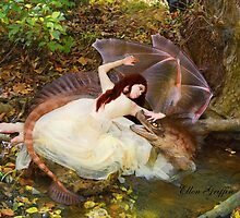 Baby Dragon and friend by Ellen  Griffin