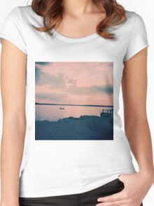 peaceful Women's Fitted Scoop T-Shirt