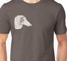 Winter Whippet Dressed For A Party Unisex T-Shirt