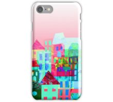 Paper town (Pink) iPhone Case/Skin