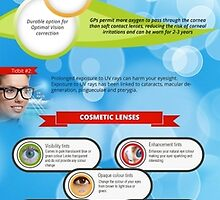 An Infographic on Types of Contact Lenses by Infographics