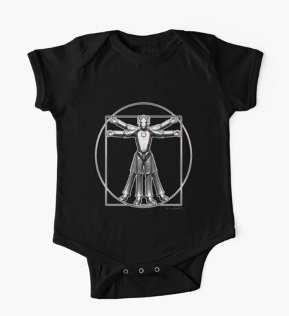 Cyber-Vitruvian Man One Piece - Short Sleeve