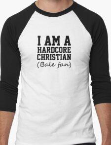 I am a hardcore Christian Bale Fan Men's Baseball ¾ T-Shirt