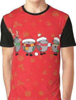 Christmas hedgehogs Graphic T-Shirt