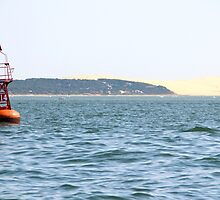 The Red Buoy - Bay of Arcachon, France.  by Tiffany Lenoir