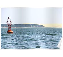The Red Buoy - Bay of Arcachon, France.  Poster