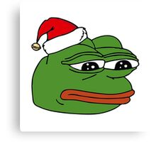 Christmas Pepe Canvas Print