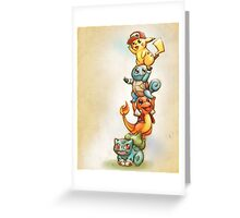 Pokemon Red Greeting Card