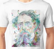 CHARLES DICKENS - watercolor portrait.4 Unisex T-Shirt