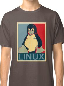 Tux Linux Hope Poster Parody Design for Free Software Geeks Classic T-Shirt