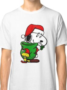 Santa Snoopy Beautiful christmas Classic T-Shirt