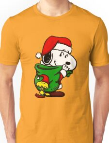 Santa Snoopy Beautiful christmas Unisex T-Shirt