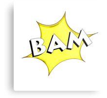 ' BAM 'Comic book style Metal Print