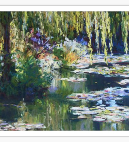 Willow & lilies, Giverny Sticker