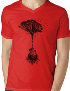 Guitar Tree Funny Mens V-Neck T-Shirt