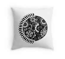 Original Sun and Moon  Throw Pillow