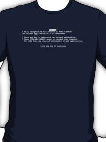 Windows blue screen of death BSOD T-Shirt