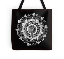 White & Black Tote Bag