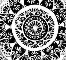 White & Black Sticker