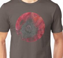 Heart of the Poppy illustration, ink and watercolor Unisex T-Shirt