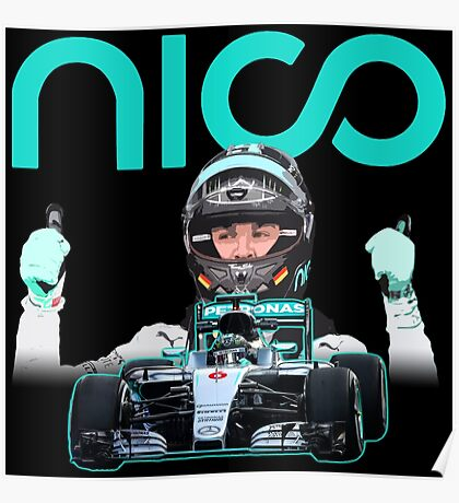 Go Nico formula 1 champion F1 Poster