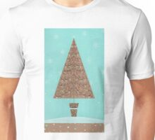Christmas tree and snowflakes Unisex T-Shirt