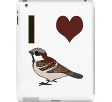 I heart sparrows iPad Case/Skin