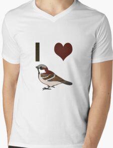 I heart sparrows Mens V-Neck T-Shirt