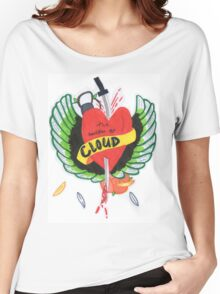 Heart Stabbed - Final Fantasy VII The Sacrifice Of Cloud - Name Banner 'CLOUD' Women's Relaxed Fit T-Shirt