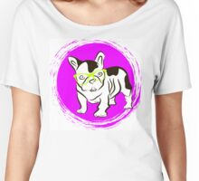 French Bulldog in glasses Women's Relaxed Fit T-Shirt