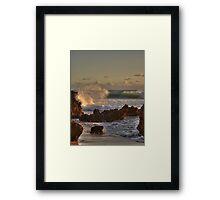 Rough Seas..... Framed Print