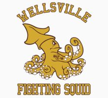 Wellsville Fighting Squid (Pete and Pete/Notre Dame parody) Kids Clothes