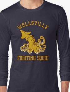 Wellsville Fighting Squid (Pete and Pete/Notre Dame parody) Long Sleeve T-Shirt