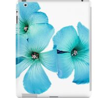 TURQUOISE FLOWER POWER  iPad Case/Skin