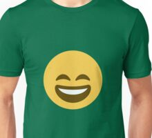 Smiling face with open mouth and smiling eyes Unisex T-Shirt
