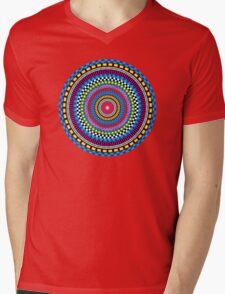 Geometric Mandala Mens V-Neck T-Shirt