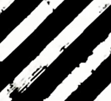 Off White Brushed Diagonals Stripe Logo v2 Sticker