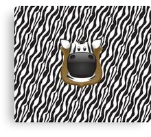Zoo animals wildlife - Zebra Canvas Print