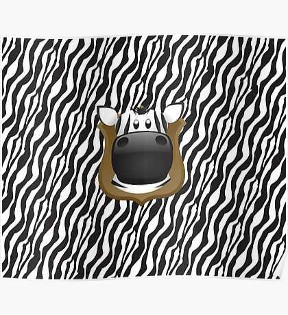 Zoo animals wildlife - Zebra Poster