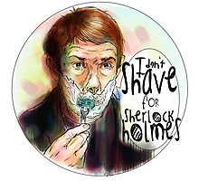 Shave for Sherlock (paint) Photographic Print